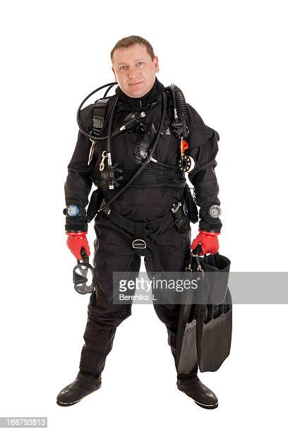 Diver ready to dive