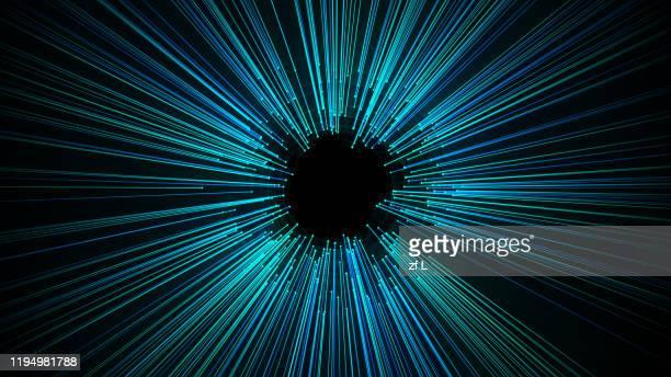 divergent particle lines - windung stock-fotos und bilder
