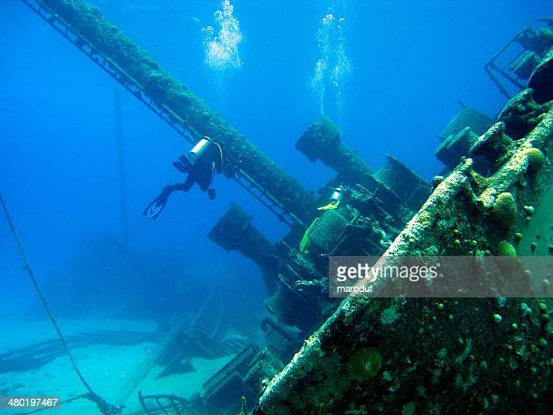 Divers on shipwreck