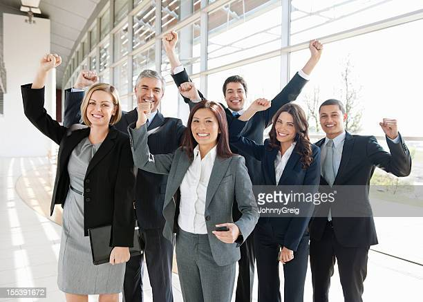Diverse Business Group Cheering