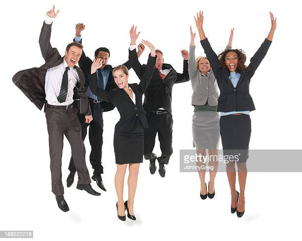 Diverse Business People Cheering - Isolated