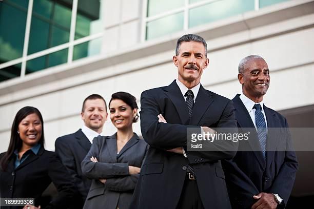 Diverse business-team außerhalb des Büros