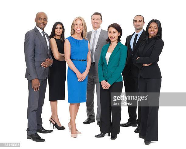 diverse business team - cut out dress stock pictures, royalty-free photos & images