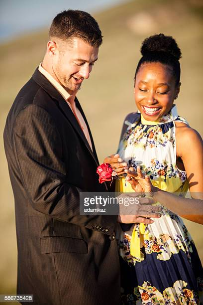 diverse couple gets engaged - black women engagement rings stock pictures, royalty-free photos & images