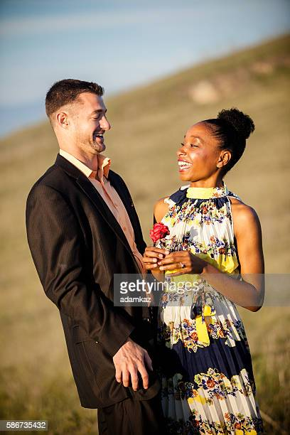 Diverse Couple Gets Engaged
