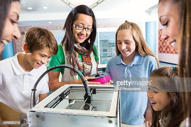 Vielfältige elementaren Schülern Sie 3D-Drucker Drucken Objekt