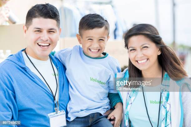 Diverse family of volunteers