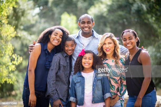 diverse family photo - large family stock pictures, royalty-free photos & images