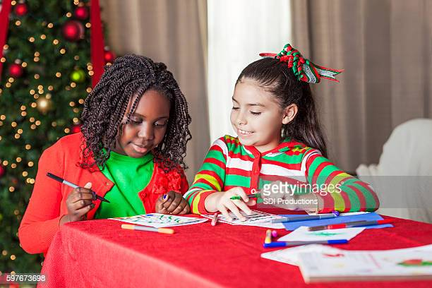 Diverse friends are creative during Christmas charity project
