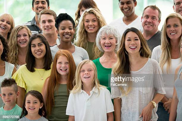 Diverse Group Laughing Together
