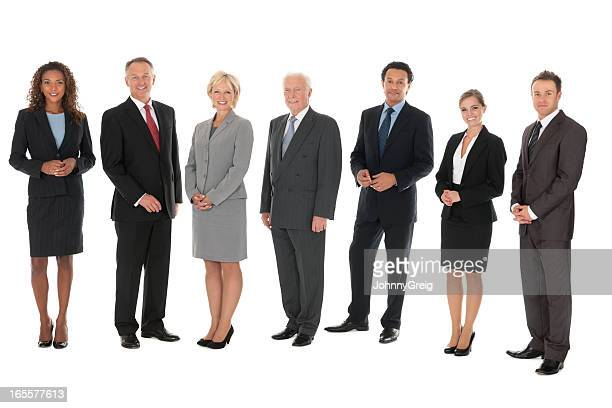 diverse group of business people - isolated - middelgrote groep mensen stockfoto's en -beelden
