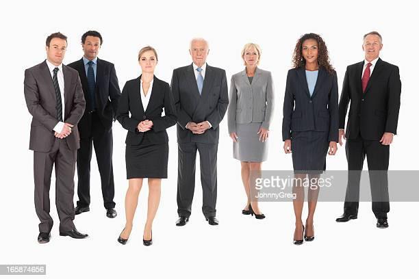 Große Gruppe der Geschäftsleute-isoliert