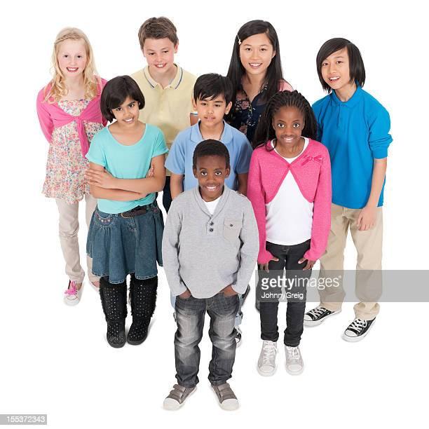 Gruppo eterogeneo di ragazzi In abbigliamento Casual