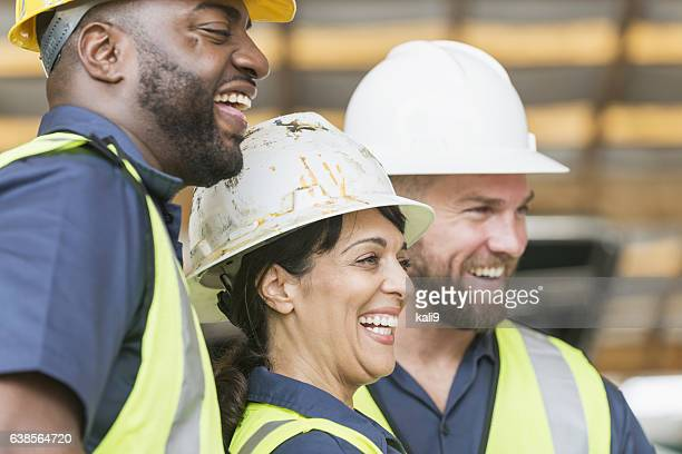 diverse group of construction workers - diverse women ストックフォトと画像