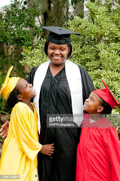 Afro-americana mãe Meninas Orgulho