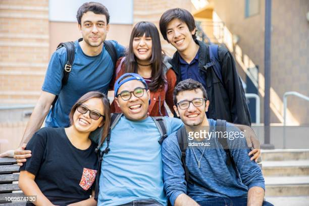 Diverse Group of Friends Photo at College