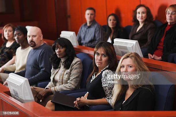 diverse group of jurors - juror law stock pictures, royalty-free photos & images