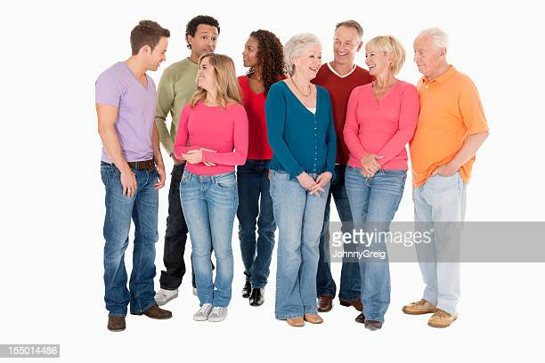 Diverse Group of People in Casual Wear - Isolated