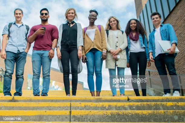 diverse group of university students - community college stock pictures, royalty-free photos & images