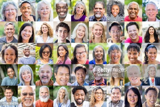 diverse human faces - adamkaz stock pictures, royalty-free photos & images