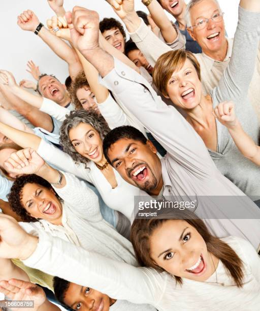 Diverse People (Community) Cheering