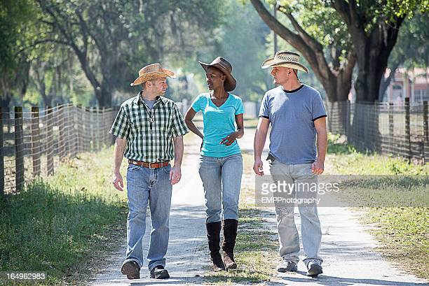 Diverse People on a Ranch
