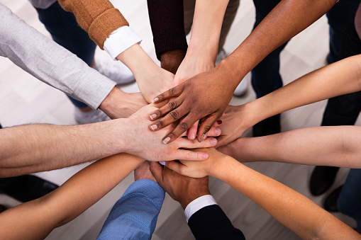 Diverse People Stacking Hand Together 1152125129