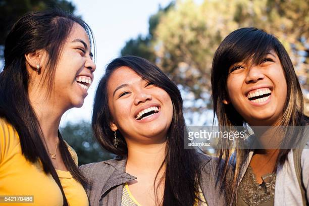 Diverse Students Smiling and Laughing Together