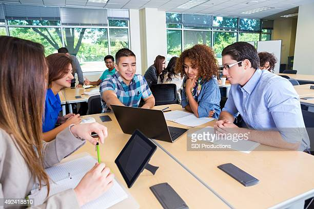 diverse study group of teenage and young adult college students - 21st century stock pictures, royalty-free photos & images