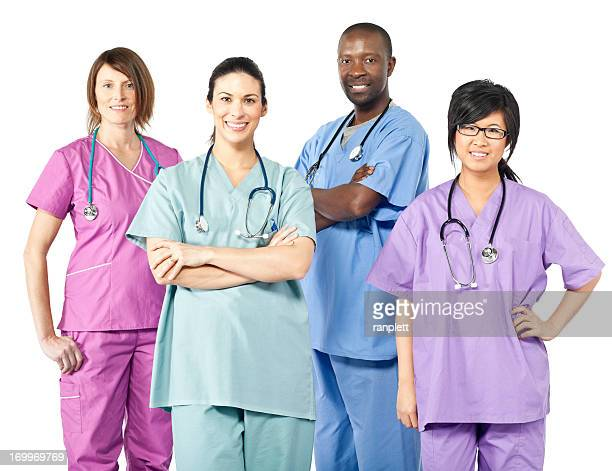 Diverse Team of Health Care Workers