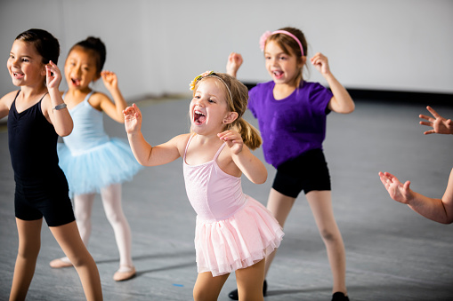 Diverse Young Students in Dance Class 953708814