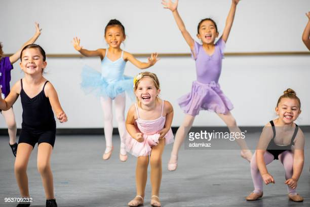 Diverse Young Students in Dance Class