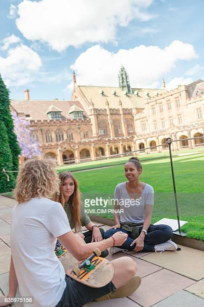 diversity at the university campus - university of sydney stock pictures, royalty-free photos & images