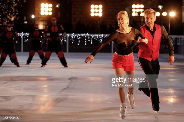 Diversity Jayne Torvill and Christopher Dean film a Pop Video on the Somerset House Ice Rink For ITV Text Santa A New Seasonal Charity Programme at...