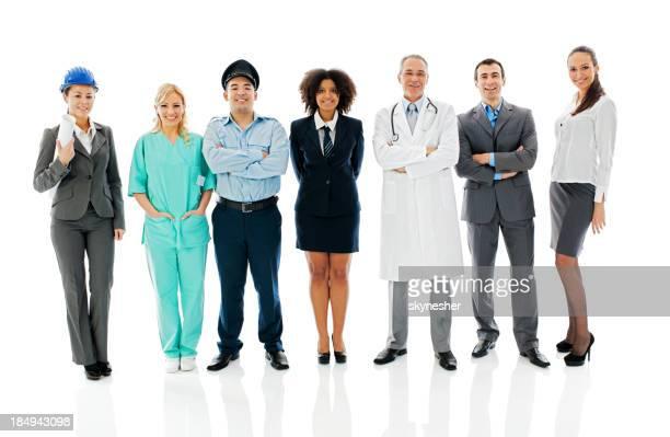 Vielfalt Berufe Personen.
