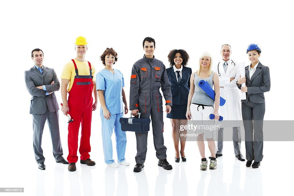 Diversity occupations people. : Stock Photo