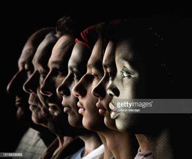 diversity of races and ages people profile portrait - diversity stock pictures, royalty-free photos & images