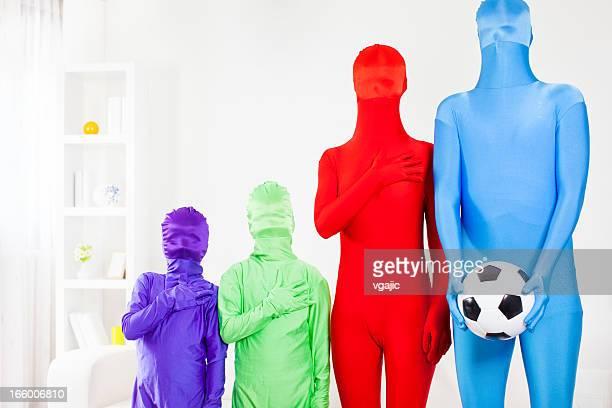 Diversity of soccer fans.