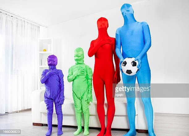 多様なサッカーファンます。
