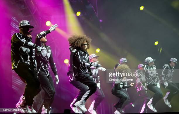 Diversity performs on stage at O2 Arena on April 4, 2012 in London, United Kingdom.