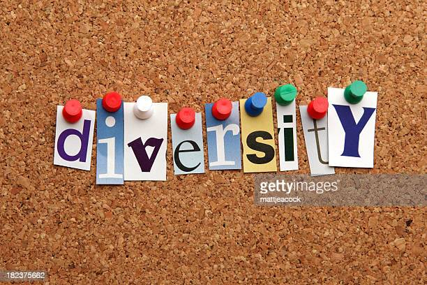 diversity pinned on noticeboard - single word stock pictures, royalty-free photos & images