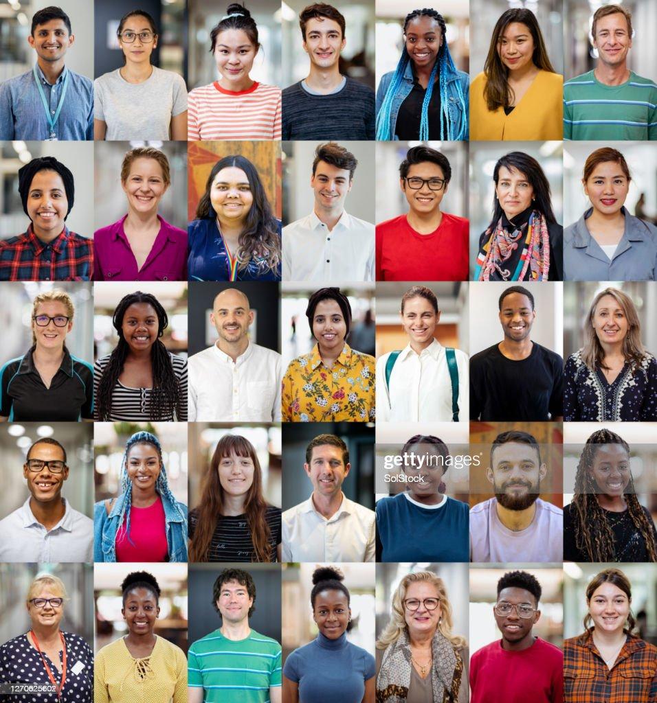 Vielfalt innerhalb der Bildung : Stock-Foto