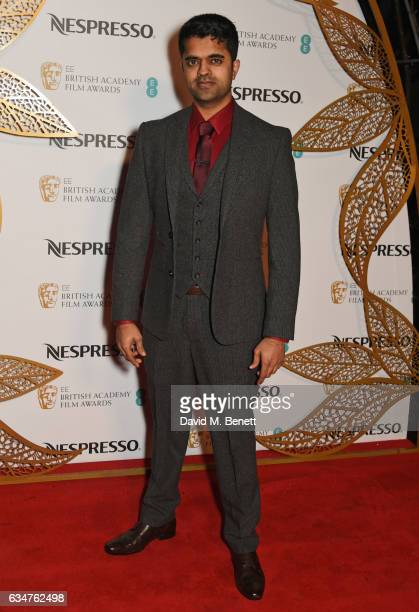 Divian Ladwa attends the BAFTA nominees party hosted by Nespresso at Kensington Palace on February 11 2017 in London England