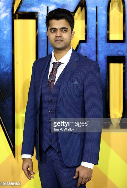 Divian Ladwa attends the European Premiere of 'Black Panther' at Eventim Apollo on February 8 2018 in London England
