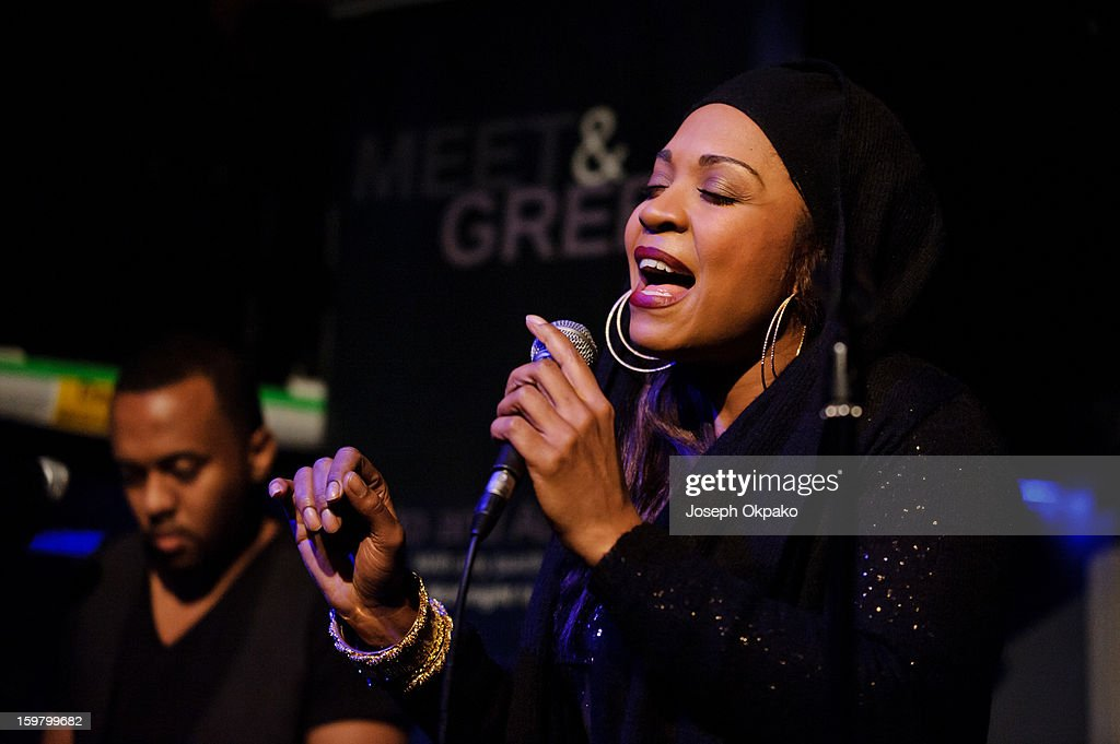 Divine Brown performs at The Jazz Cafe on January 20, 2013 in London, England.