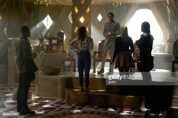 THE MAGICIANS 'Divine Elimination' Episode 203 Pictured Arjun Gupta as Penny Hale Appleman as Eliot