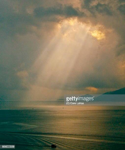 Divine light from sky