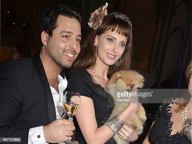 Divinescence Vendome' CEO Jonathan Herbatschek Fredrique Bel and 'Joca ze dog' attend the 'Diamond Night by Divinescence Vendome' Harumi Klossowska...