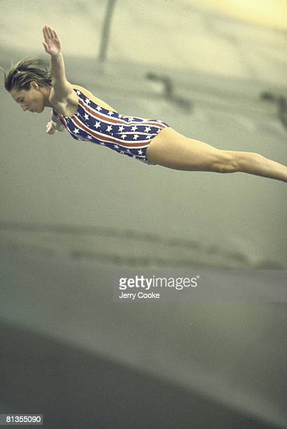 Diving 1972 Summer Olympics USA Maxine Micki King in action during springboard competition Munich FRG 8/26/19729/11/1972