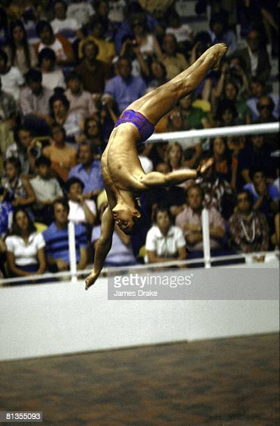 Diving 1976 Summer Olympics USA Greg Louganis in action during 10M platform competition Montreal CAN 7/17/19768/1/1976